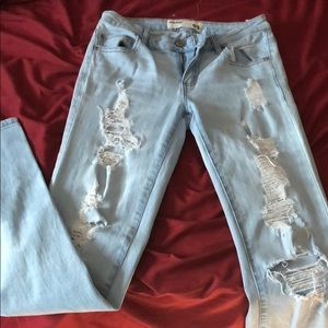 garage distressed ripped skinny jeans size 1